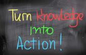 Transformer les connaissances en concept d'action — Photo