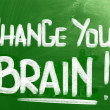 Change Your Brain Concept — Stock Photo