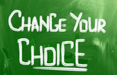 Change Your Choice Concept — Stock Photo