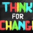 Think For Change Concept — Stock Photo #39424499
