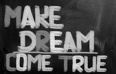 κάνει το όνειρο που έρχονται αλήθεια έννοια — Φωτογραφία Αρχείου