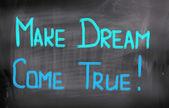 Hacer el sueño verdadero concepto — Foto de Stock