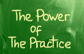 The Power Of The Practice Concept — Stock Photo