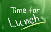 Time For Lunch Concept — Stock Photo
