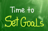 Time To Set Goals Concept — Stock Photo