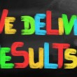 Stock Photo: We Deliver Results Concept