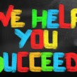 Stock Photo: We Help You Succeed Concept
