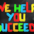 Stockfoto: We Help You Succeed Concept