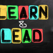 Stock Photo: Learn And Lead Concept