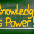 Knowledge Is Power Concept — Stock Photo #40282263