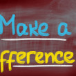 Stock Photo: Make Difference Concept