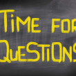 Time For Questions Concept — Stock Photo #40344893
