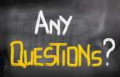 Any Questions Concept — Stock Photo