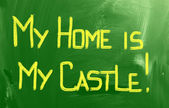 My Home Is My Castle Concept — Stock Photo