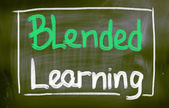 Blended learning koncept — Stock fotografie