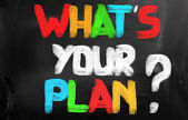 What's Your Plan Concept — Stock Photo