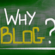 Stock Photo: Why Blog Concept