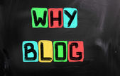 Why Blog Concept — Stock Photo