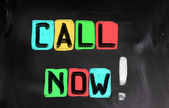 Call Now Concept — Stock Photo