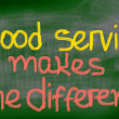 Stock Photo: Good Service Makes Difference Concept