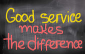Good Service Makes The Difference Concept — ストック写真