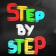 Step By Step Concept — Stock Photo #41093643