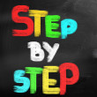 Stock Photo: Step By Step Concept
