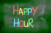 Happy Hour Concept — Stock Photo