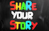 Share Your Story Concept — Stock Photo