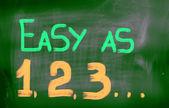 Easy As 123 Concept — Stock Photo