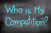 Who Is My Competition Concept — Stock Photo