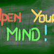 Open Your Mind Concept — Stock Photo