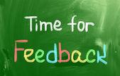 Zeit für feedback-konzept — Stockfoto