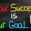 Your Success Is Our Goal Concept — Stock Photo