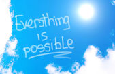 Everything Is Possible Concept — Stock Photo