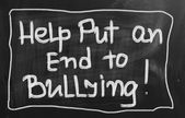 Help Put An End To Bullying Concept — Stock Photo