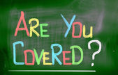 Are You Covered Concept — Stock Photo