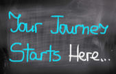 Your Journey Starts Here Concept — Stockfoto