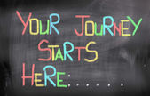 Your Journey Starts Here Concept — Foto Stock