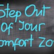Постер, плакат: Step Out Of Your Comfort Zone Concept