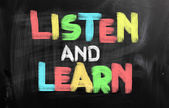 Listen And Learn Concept — Stock Photo