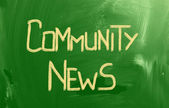 Community News Concept — Stock Photo