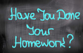 Have You Done Your Homework Concept — Stock Photo