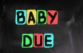 Baby Due Concept — Stock Photo