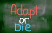 Adapt Or Die Concept — Stockfoto