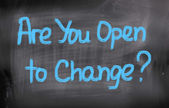 Are You Open To Change Concept — Stock Photo