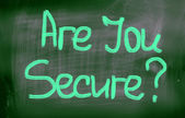 Are You Secure Concept — Zdjęcie stockowe
