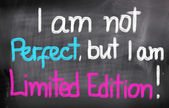 I Am Not Perfect But I Am Limited Edition Concept — 图库照片