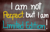 I Am Not Perfect But I Am Limited Edition Concept — Stockfoto