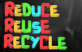 Reduce Reuse Recycle Concept — Stock Photo